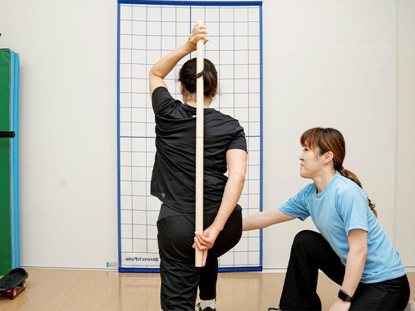 写真:パーソナルトレーニングの様子